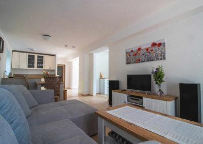 Apartmán v přízemí - obývací pokoj