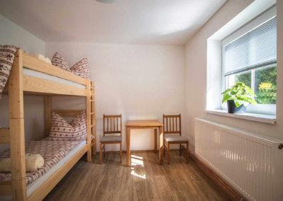 Apartmán v přízemí - pokoj
