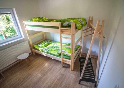 Apartmán v patře - pokoj s patrovou postelí
