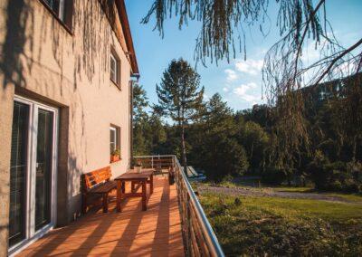 Apartmány Rusalka – apartmán v přízemí – venkovní terasa